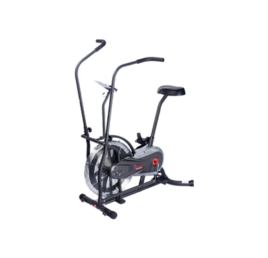 Description: unny Health & Fitness Upright Compact Air Fan Bike